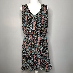 NWT | Bisou Bisou | Ikat Print Dress